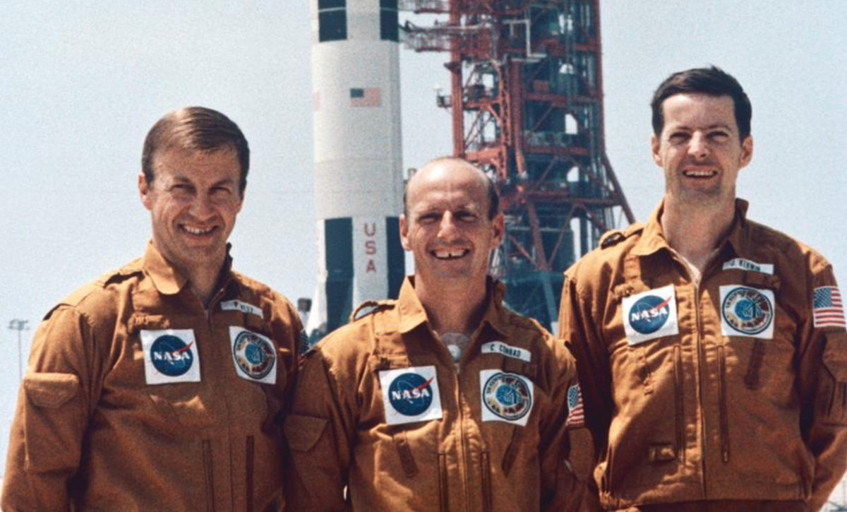 The astronauts of Skylab 2, the first crewed mission to Skylab which launched 44 years ago today. Paul Weitz, Pete Conrad, and Joe Kerwin.