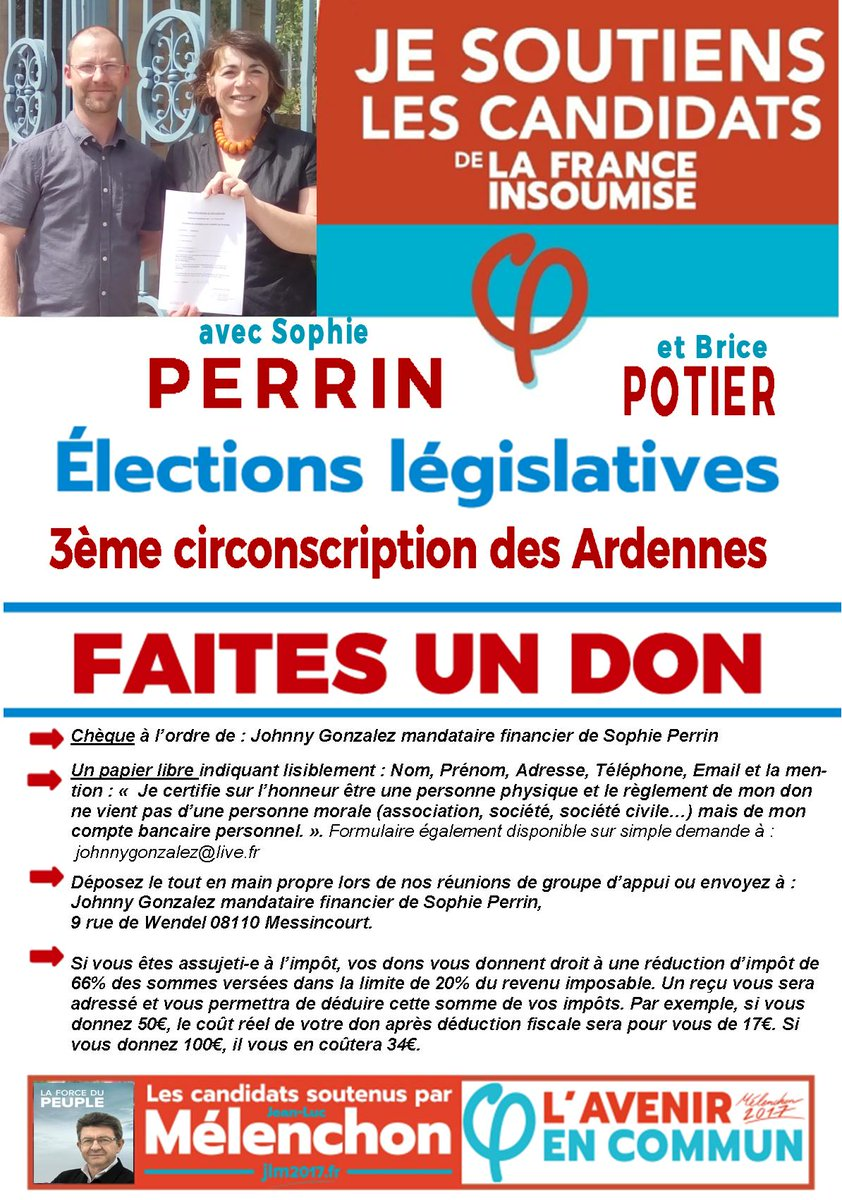 @SedanInsoumise @JLMelenchon  retweet please  #FiPourLaPaix #JLM2017 #legislatives2017 <br>http://pic.twitter.com/NtSKJVsLcw