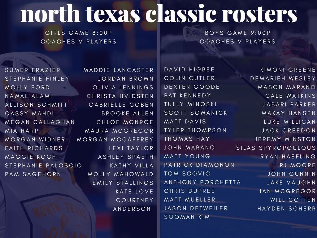 Bridge Lacrosse On Twitter Rosters Are Here For Tonight S