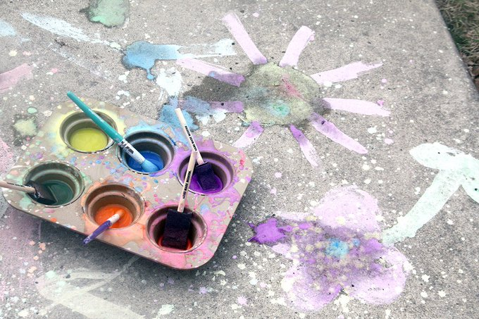 Brighten summer with DIY sidewalk paint