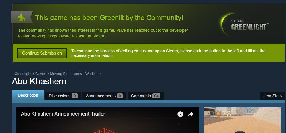 Abo Khashem is Greenlit!Thank you to everyone who supported us! Look out for a talking lizard on #Steam soon! #indiedev #gamedev #indiegame <br>http://pic.twitter.com/e1OdhQPnrY
