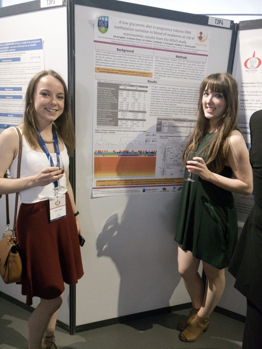 #TeamROLO at my poster on #epigenetic impacts of a #LowGIdiet in #Pregnancy at #ECO2017 in Porto last week  #ROLOStudy #Wearedelivering<br>http://pic.twitter.com/T7E7wAc6PQ