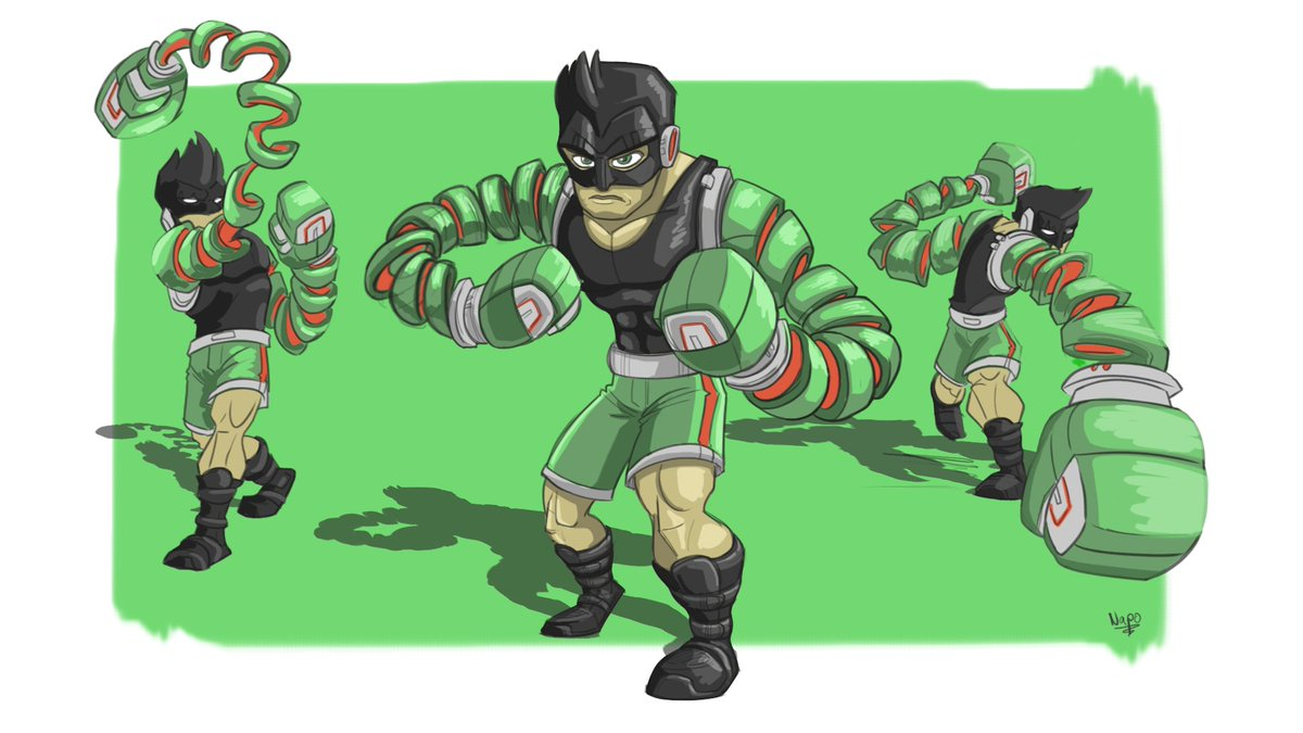 Arms needs to at least have the little boxer who could on the scene #arms #nintendo