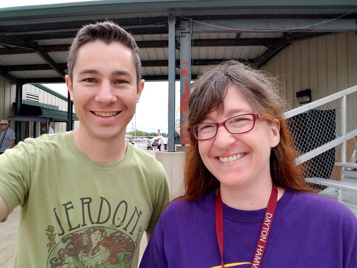 Michelle, W5NYV, lead for @AMSAT Phase 4 Ground Project, and all around cool person #hamvention #amsat #hamradio #latergram <br>http://pic.twitter.com/TCQu1U0HI0