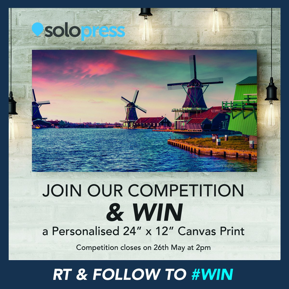 RETWEET &amp; FOLLOW @Solopress before 2pm tomorrow to enter our #competition to #WIN a personalised #Canvas! #competitions #giveaway #giveaways<br>http://pic.twitter.com/YuijJq0D3M