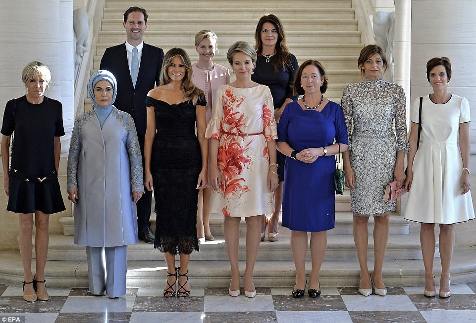 Husband of Luxembourg's gay Prime Minister joins the NATO WAGs. 👏❤️ ht...
