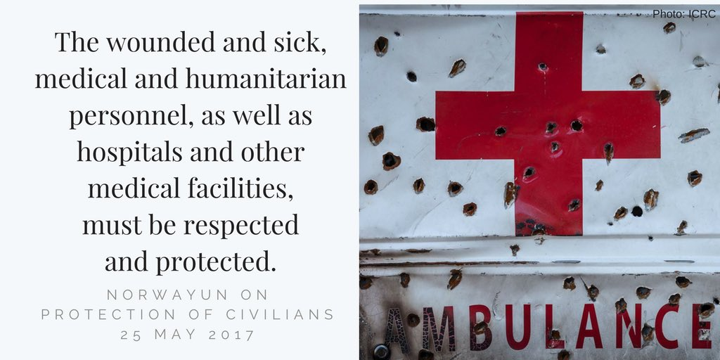 In #UNSC: Backdrop for today&#39;s debate is the 1st anniversary of UNSC resolution on #healthcare in armed #conflict #NotATarget #PoC <br>http://pic.twitter.com/KowdjiXTbg &ndash; à United Nations Security Council Chamber