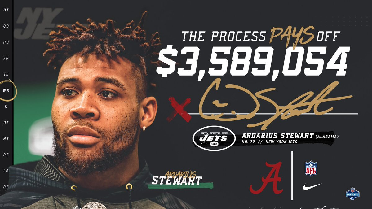 For Ardarius Stewart, The Process paid off. @neversleepon13  #rolltide...