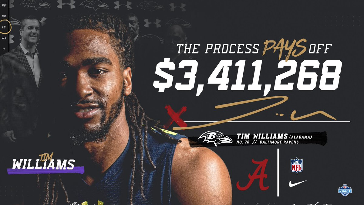For Tim Williams, The Process paid off. #rolltide https://t.co/RDBuMdm...