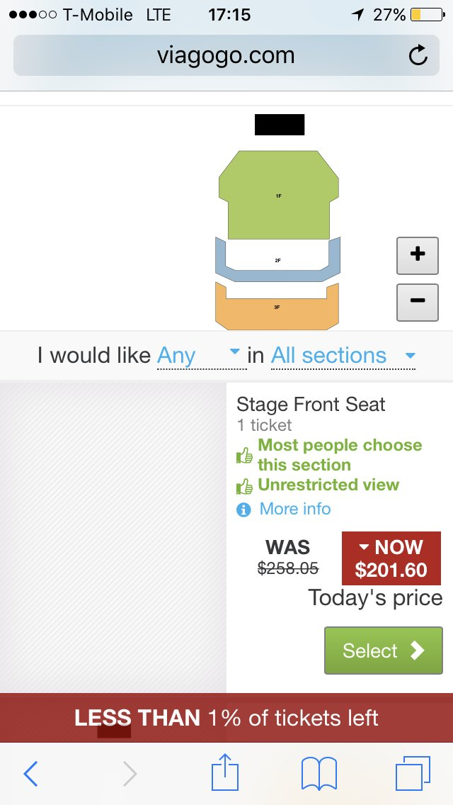 This is how much tickets for Osaka are right now for GA and I don't even know if it's legit.