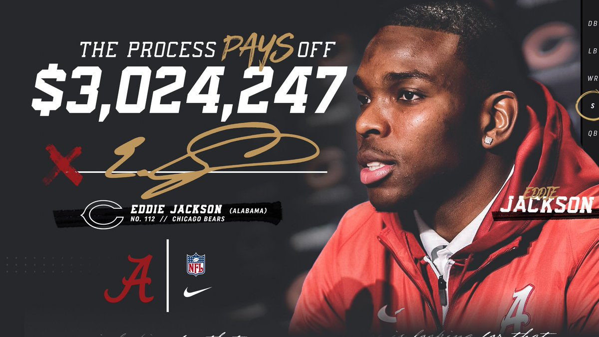 For Eddie Jackson, The Process paid off.  #rolltide https://t.co/Nb9Nj...