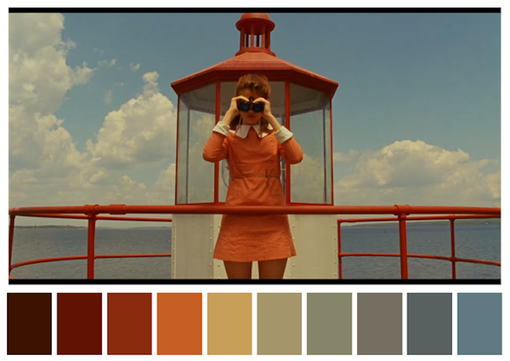 Visually satisfying project shares the color palettes of iconic film scenes