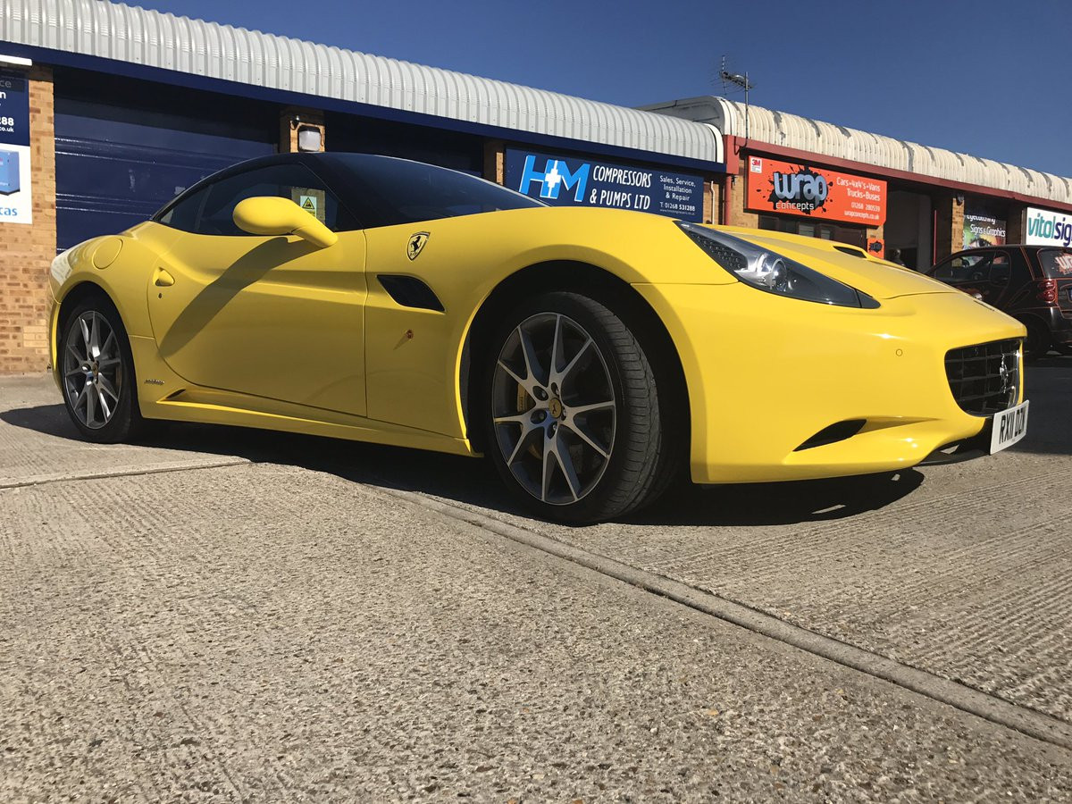 Wrap Concepts On Twitter Ferrari California Wrapped Gloss Yellow