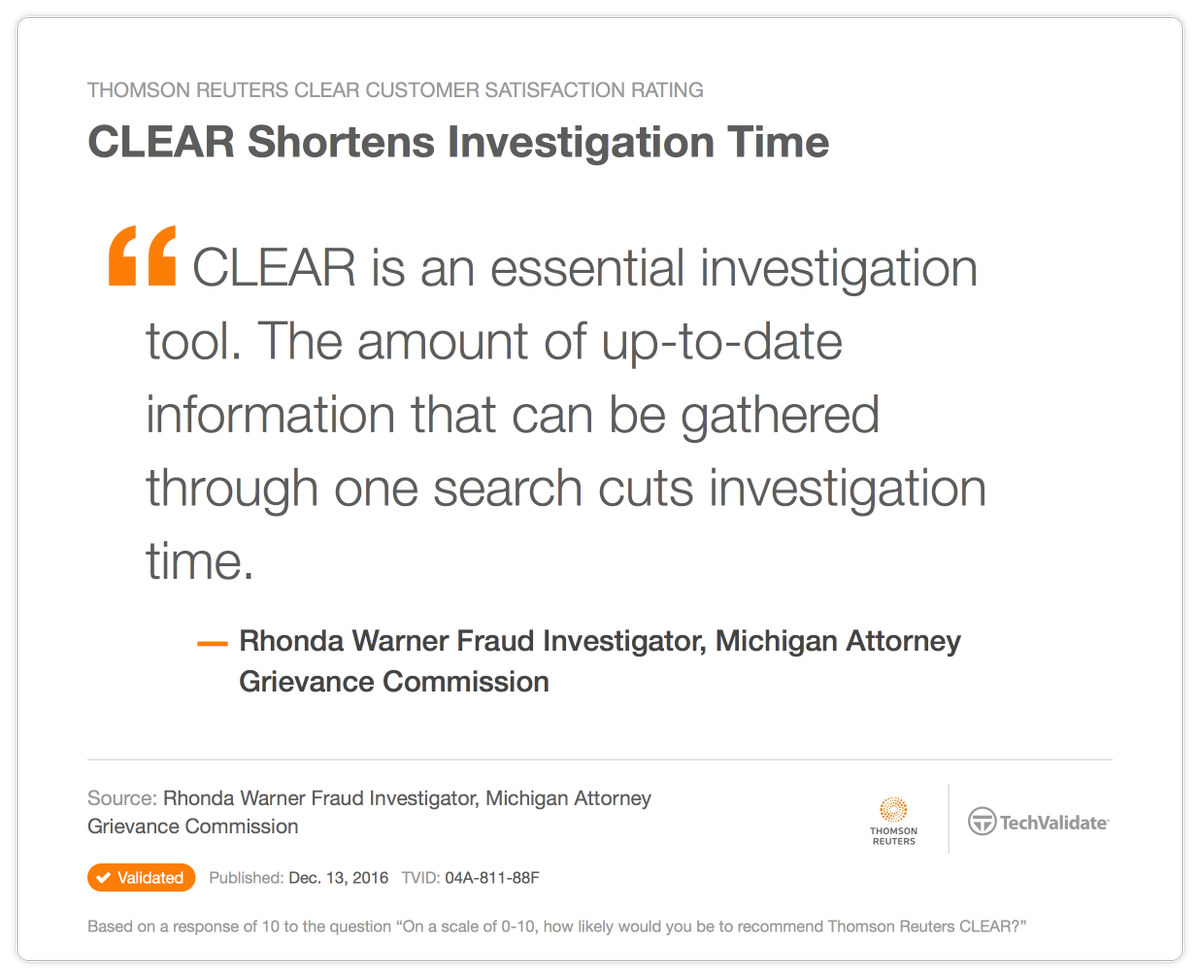 CLEAR Investigations on Twitter: