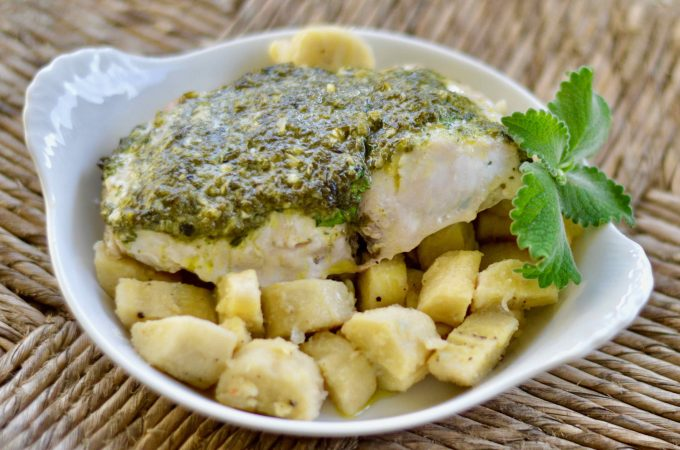 Dorado Fish Recipe with Herb Topping (Mahi Mahi Fish)