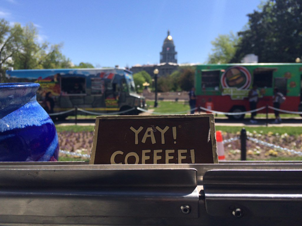 Eats today! @CivicCenterPark until 2pm! #coffee @OGBurger @LomitoGourmet