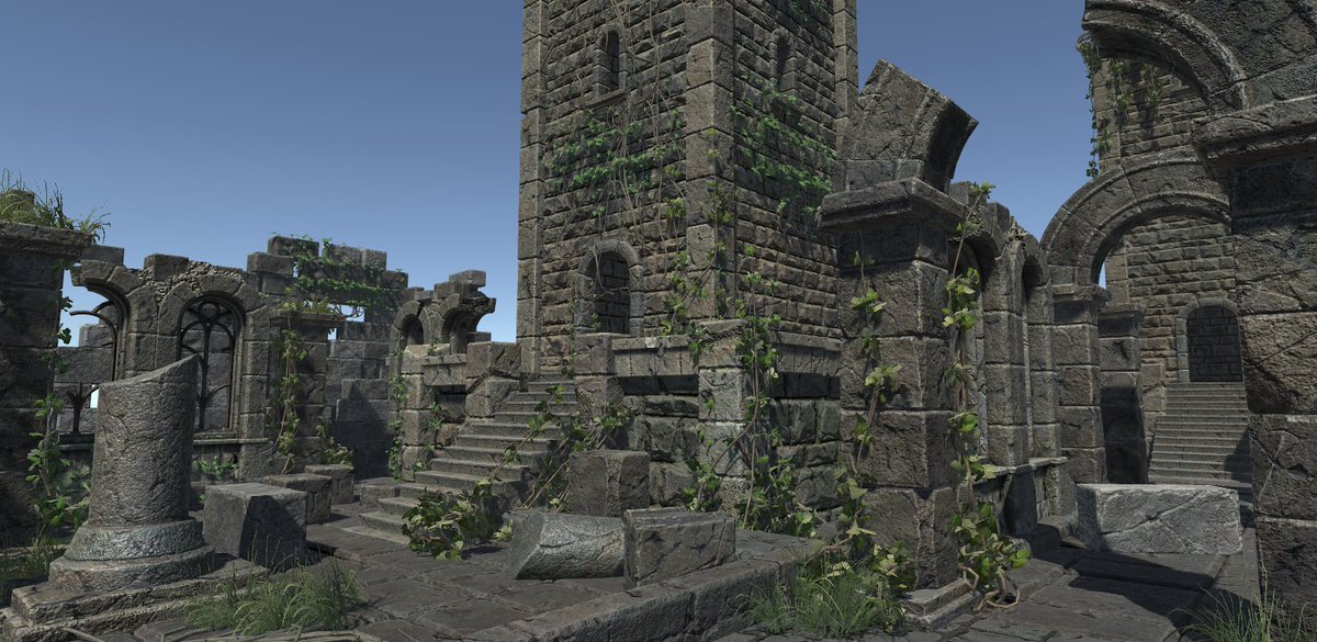 Ruins Constructor Vol.02 PBR by ice_screen  http:// u3d.as/vez  &nbsp;   #unity3d #gamedev #indiedev #indiegame #gamedesign #3dmodel #3dsmax<br>http://pic.twitter.com/QIPJG4dGIP