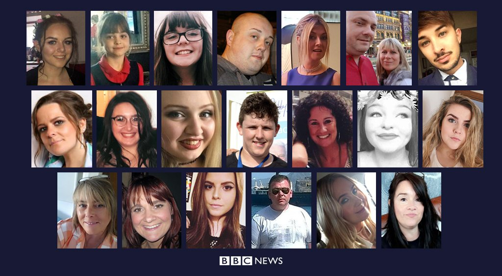 Remembering the 22 people killed in the #Manchester terror attack   http:// bbc.in/2qk2bR4  &nbsp;   #WeStandTogether<br>http://pic.twitter.com/bzDk4eFqmu