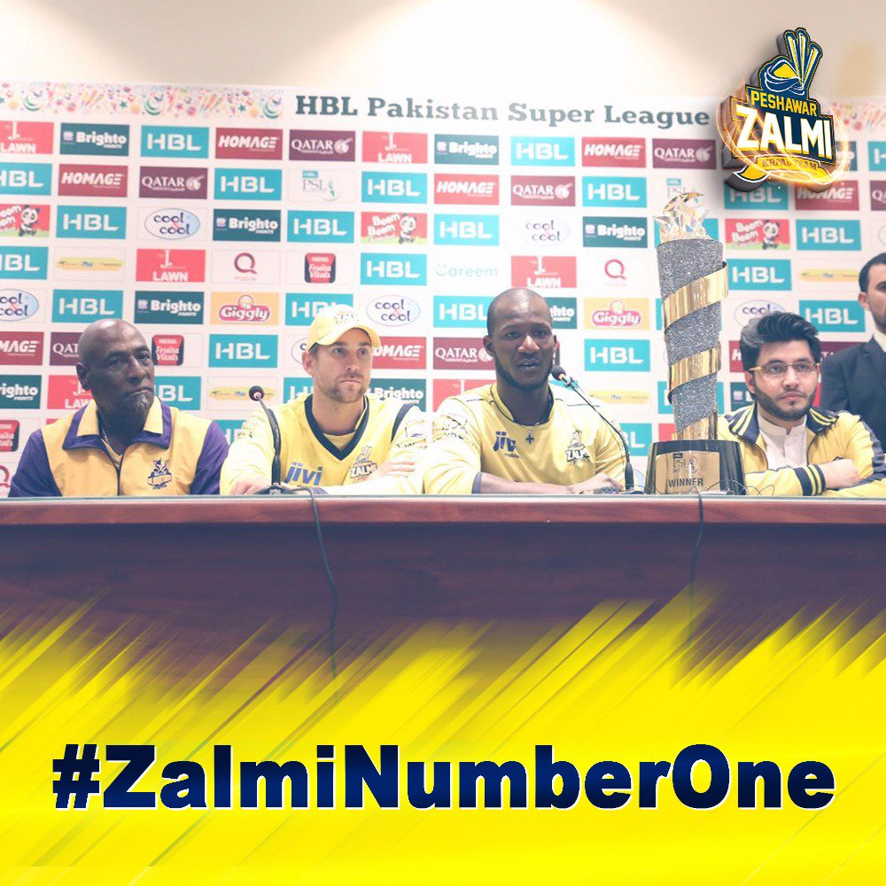 test Twitter Media - PSL was painted yellow when Zalmi were crowned Champions under the brilliant leadership of @darensammy88 Khan  #ZalmiNumberOne https://t.co/pDs1TTlycH
