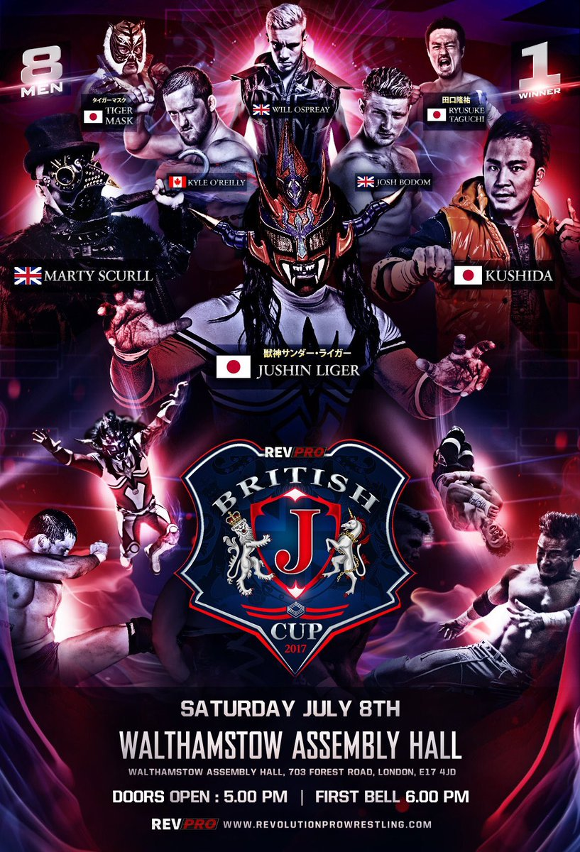 RESULTADOS - RevPro UK British J Cup (08/07/2017)