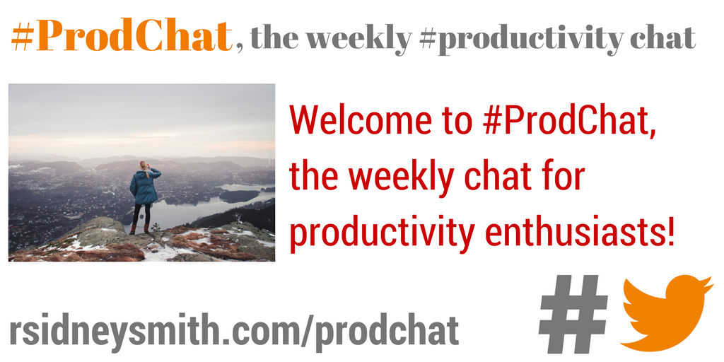 Welcome to #ProdChat, the weekly chat for productivity enthusiasts! https://t.co/C40vBaCeQb https://t.co/l2YgYQqa4P