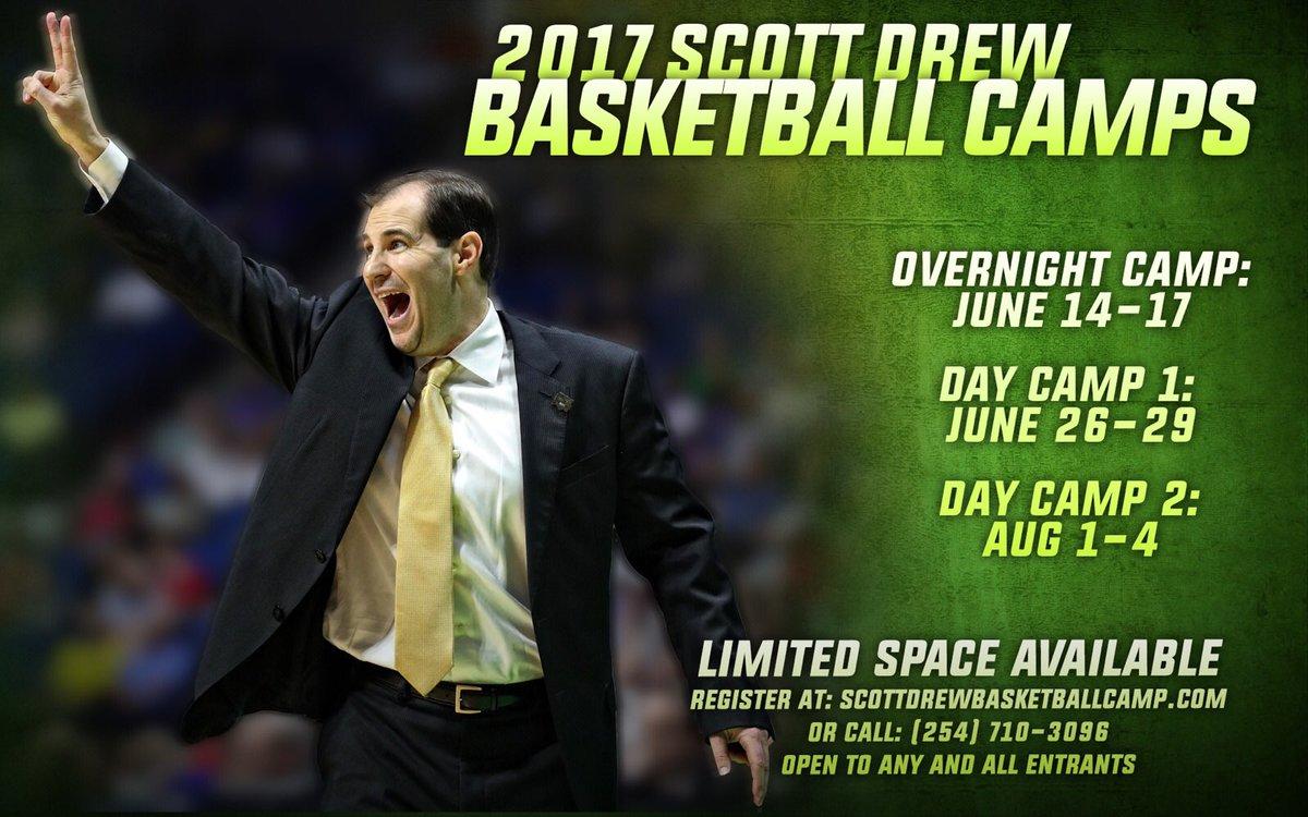 Registration open for Scott Drew Basketball Camps. Spots are filling u...