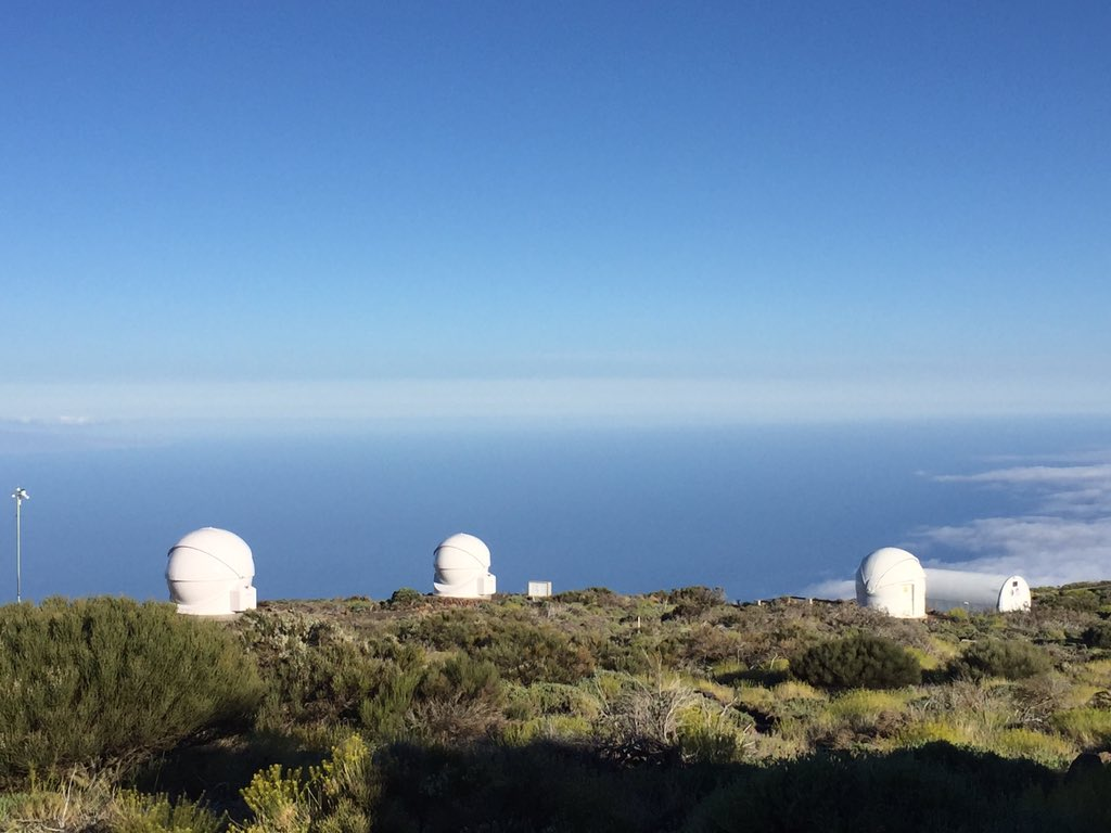 Desde el Observatorio Izaña esperando el atardecer