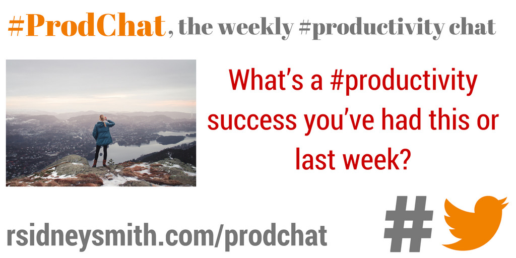 What's a #productivity success you've had this or last week? #prodchat https://t.co/dq7gCQqXKT