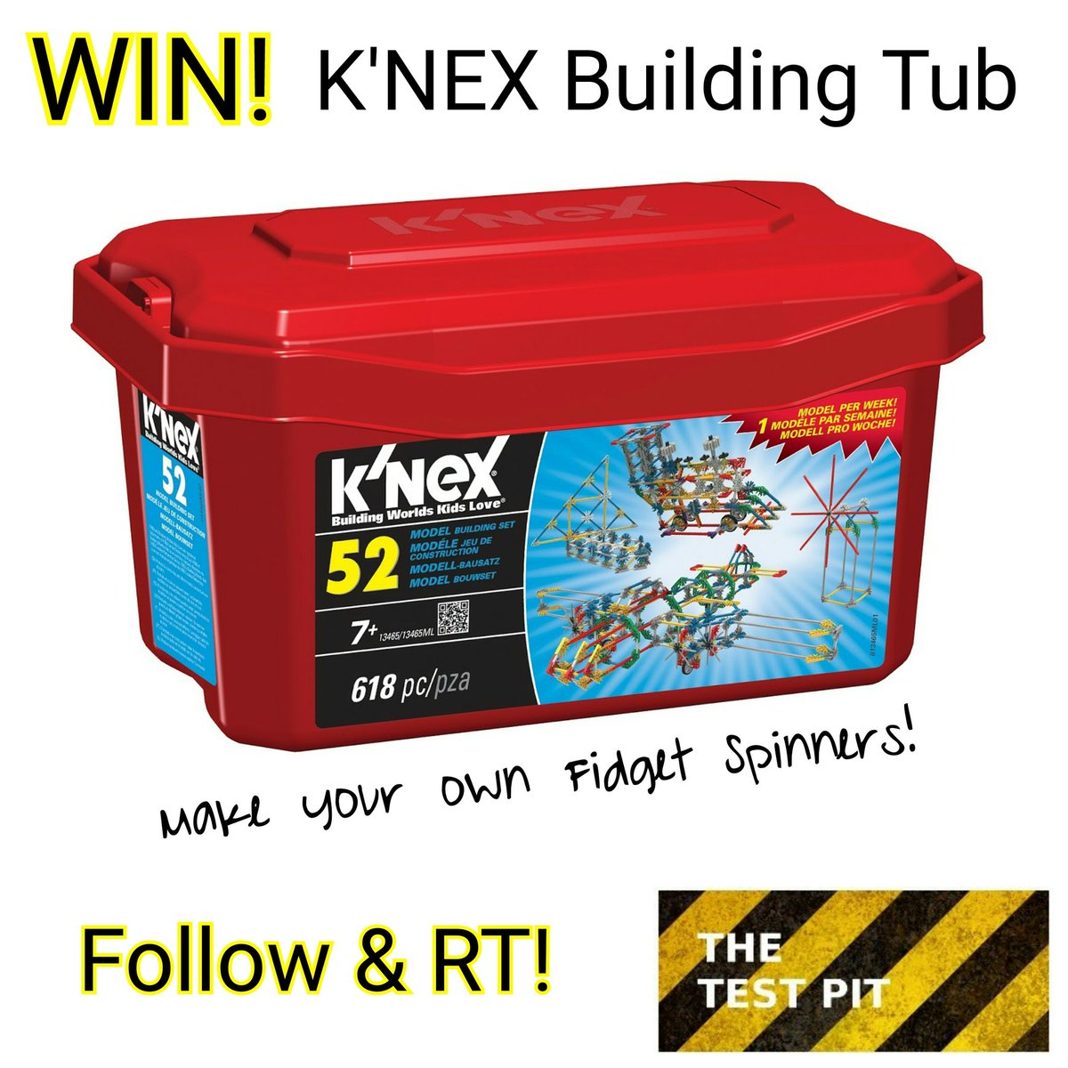 Kids into #fidgetspinners? Let them build their own, if you #win our latest @KNEXUK #competition. Follow &amp; RT!  http://www. thetestpit.com/2017/05/compet ition-win-knex-to-make-fidget.html &nbsp; … <br>http://pic.twitter.com/Y3T4FU7vgP