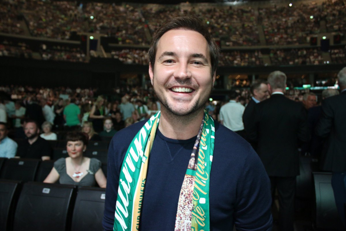 AC-12's finest, @martin_compston, is in the crowd for Celebrate '67! #Lisboa50