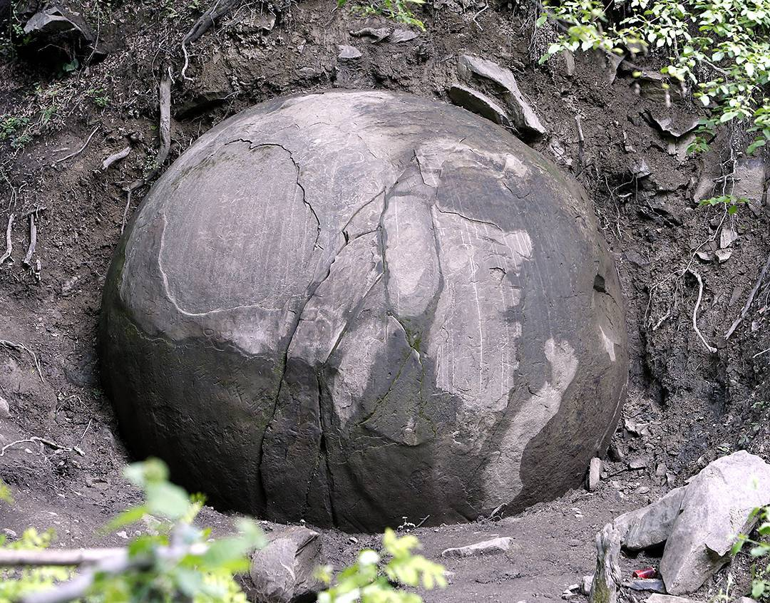 a giant stone ball has been discovered in a forest near. Black Bedroom Furniture Sets. Home Design Ideas