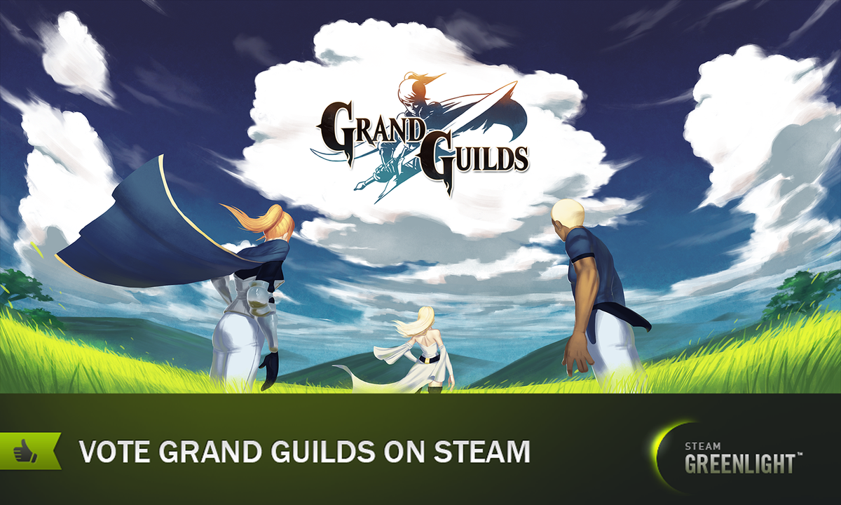 We are now on Steam Greenlight! Vote for Grand Guilds here :D  http:// steamcommunity.com/sharedfiles/fi ledetails/?id=932642986 &nbsp; …  #gamedev #indiegame #jrpg #ue4 <br>http://pic.twitter.com/19zZsii0gC