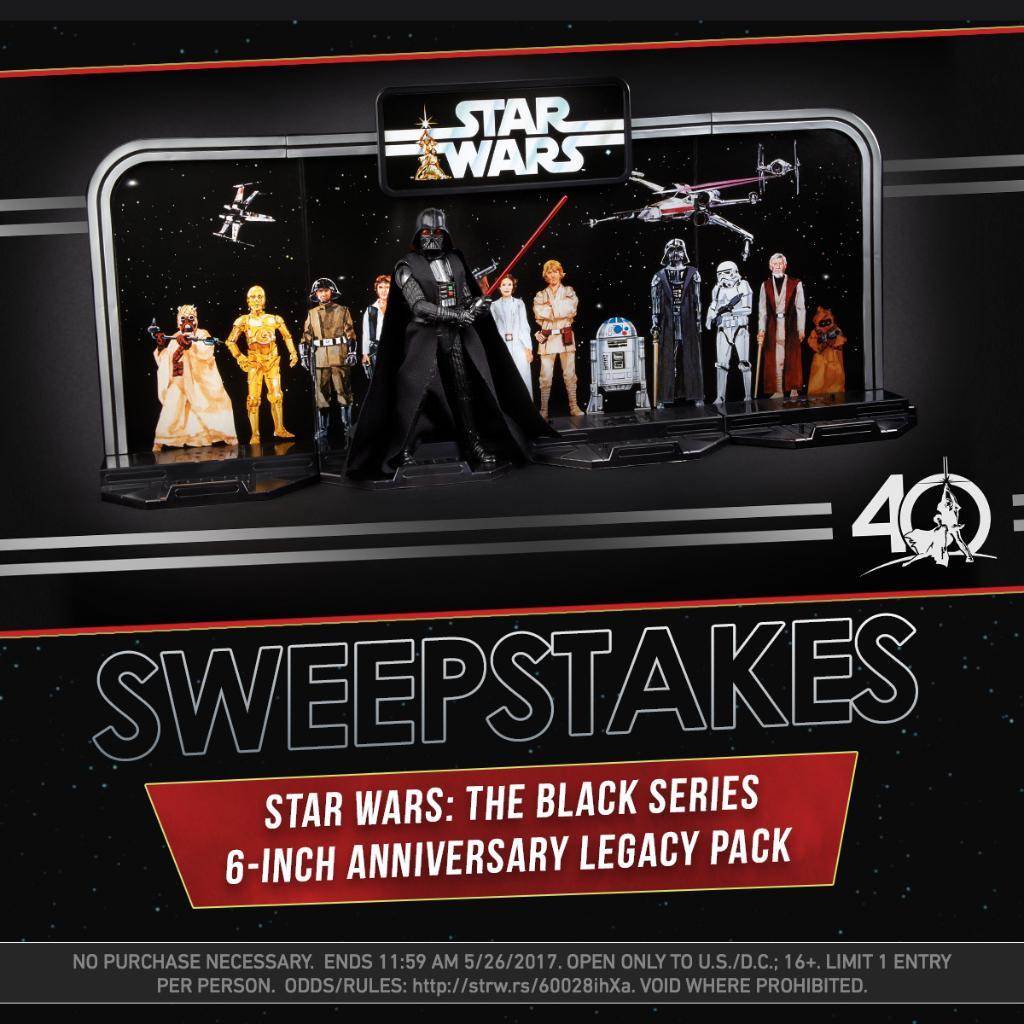 RT for a chance to win a #StarWars: The Black Series 40th Anniversary Legacy Pack from @Hasbro! US only. #SW40thBlackSeriesSweepstakes<br>http://pic.twitter.com/aC54jfhCXy