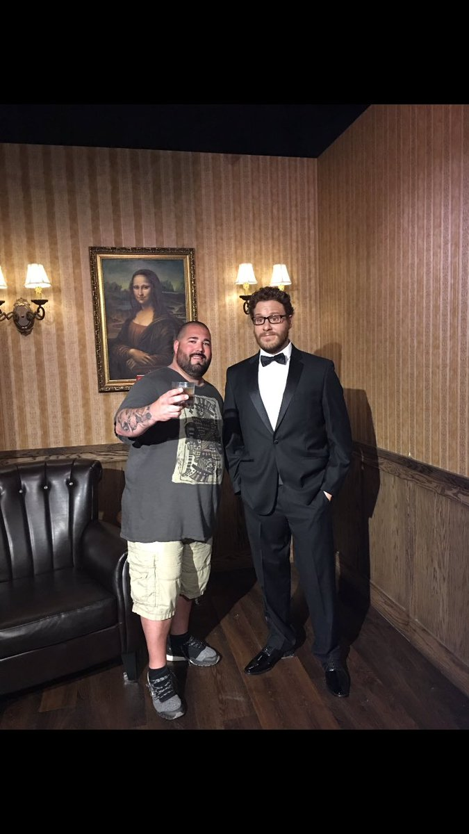 Apparently there's a weird wax statue of me in a tux in front of the Mona Lisa that I knew nothing about until this dude tweeted it at me.