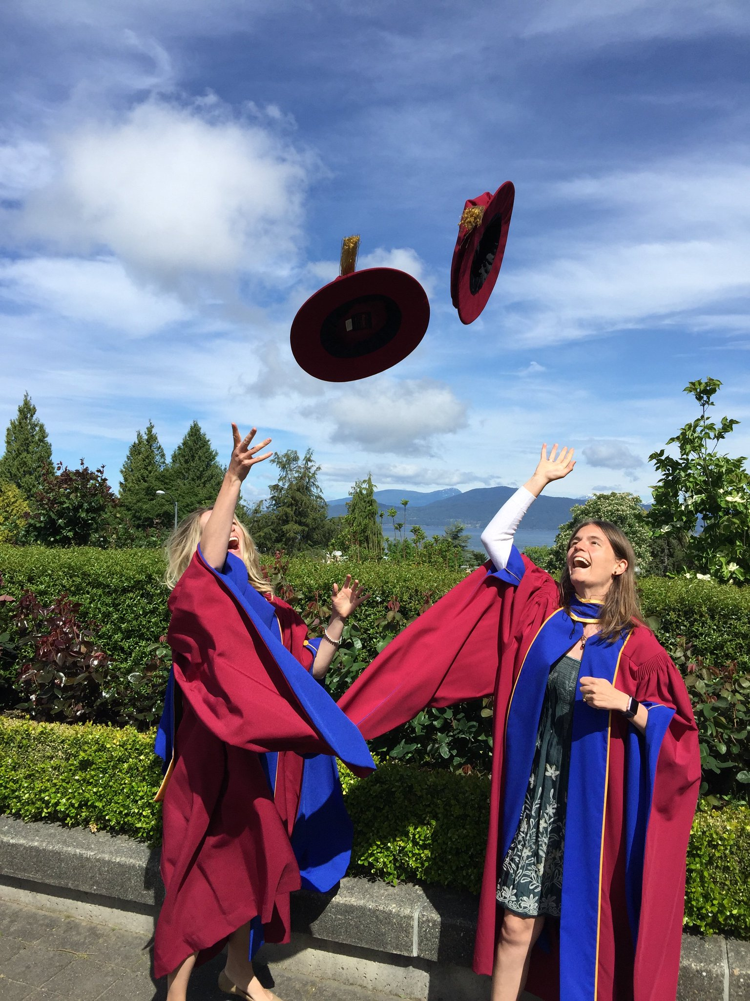 Congratulations to newly-minted Dr. @leighgabel and Dr. Anna Chudyk - #UBC PhD grads at yesterday's ceremony! #UBCGrad @UBC https://t.co/RLJcT8GQBs