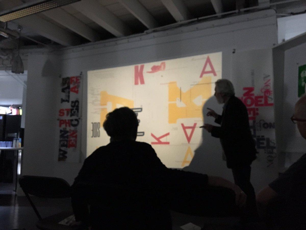 Typography and print legend Alan Kitching @Fedrigoniuk today. Paper &amp; Type for @CDWfestival #craft #print #letterpress<br>http://pic.twitter.com/mhKIYjK0HU