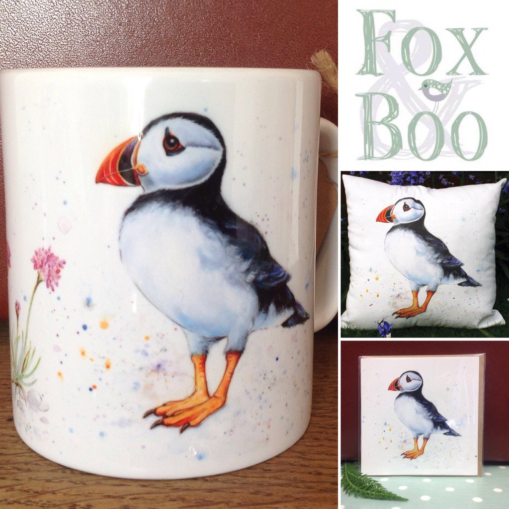 #Nwaleshour or perhaps u wd prefer a #Puffin? @craftconwy #cushions #mug #cards #coasters #slate @LFoxIllustrator<br>http://pic.twitter.com/L8waICYRzb