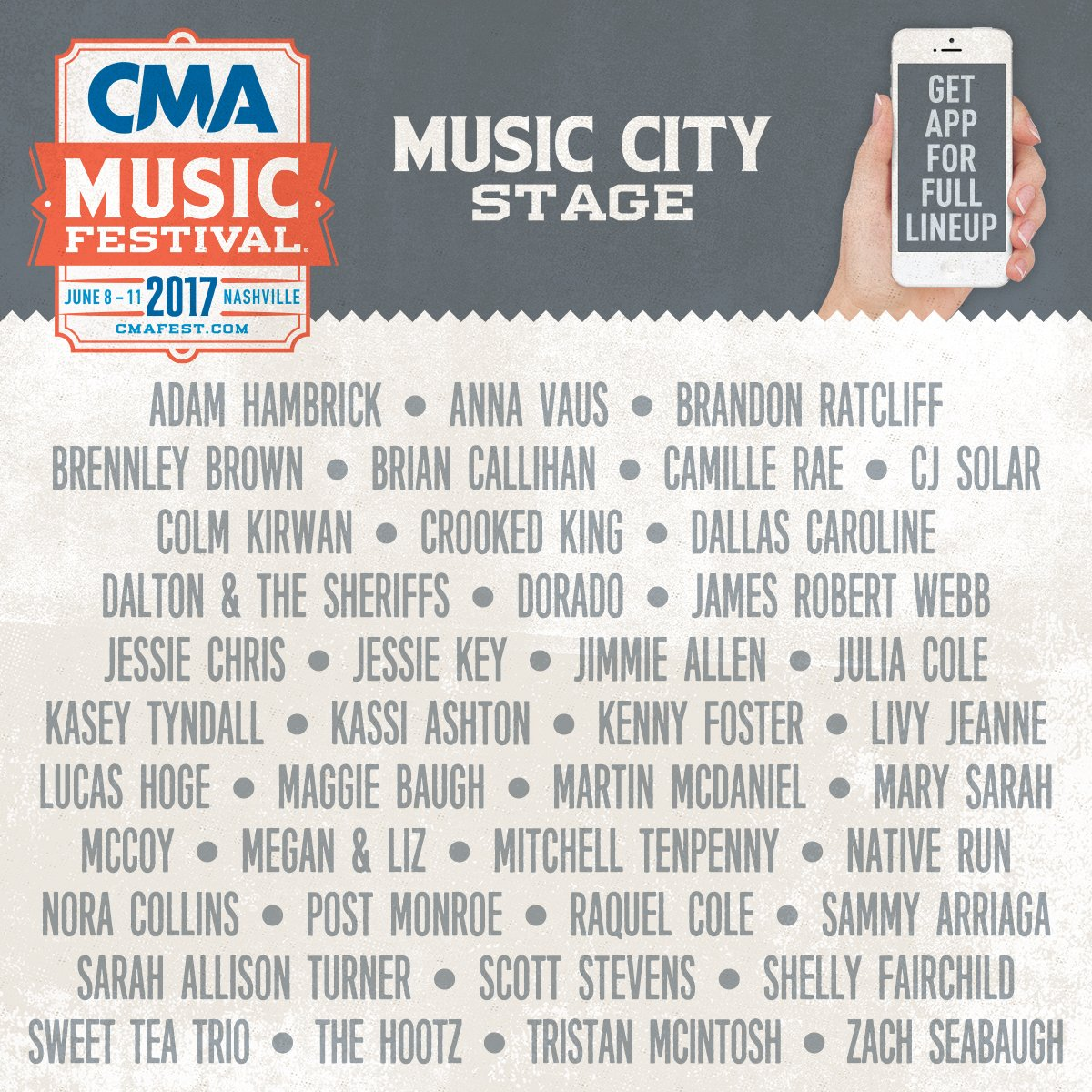 Can't believe I get to play #CMAfest this year! Come find me at the Music City Stage, June 10th at 12:10pm  #Nashville <br>http://pic.twitter.com/yToORDOtip