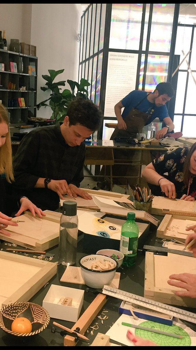 Lots of fun today at the #woodblock printing workshop with @AlexBookerPrint @ClerkenwellLDN @CDWfestival<br>http://pic.twitter.com/9Jf3wsqDkC