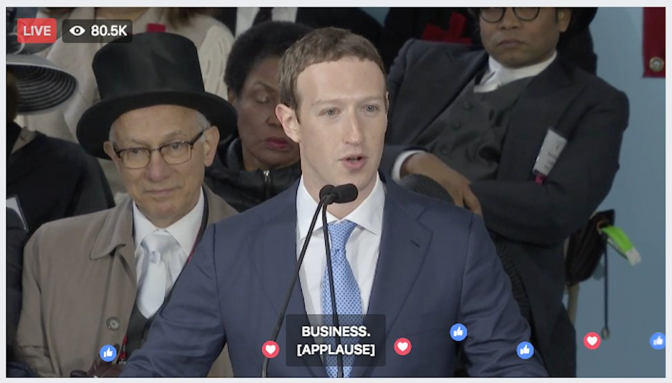 This perfectly sums up Zuck's speech