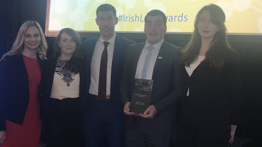 Congratulations to the Alltech European Bioscience Centre for winning the Agricultural Laboratory of the Year award! #IrishLabAwards <br>http://pic.twitter.com/KJ05zWWd9F