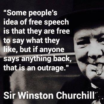 Winston Churchill understood Free Speech... https://t.co/PUMjjL10qB