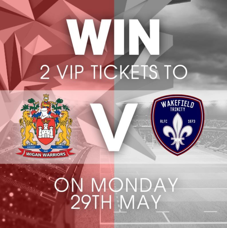 #WIN 2 VIP hospitality tickets to see @WiganWarriorsRL vs. @WTrinityRL on Monday 29th May. FOLLOW &amp; RT to enter!  <br>http://pic.twitter.com/VYbSxcwGWp