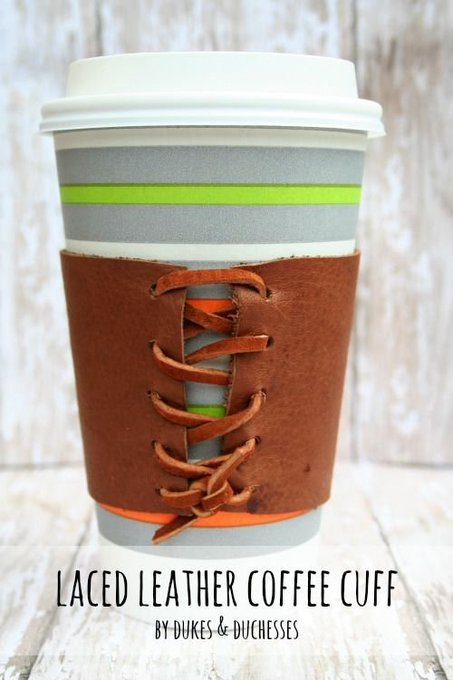 Laced Leather Coffee Cuff