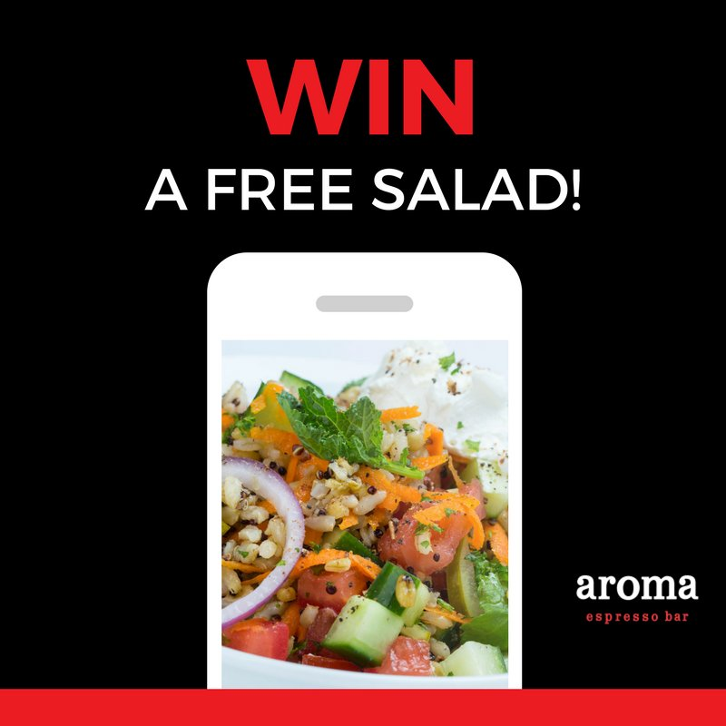 Contest continues! RT and let us know your favourite aroma #salad for a chance to win one free! https://t.co/lR1v5Kta5v