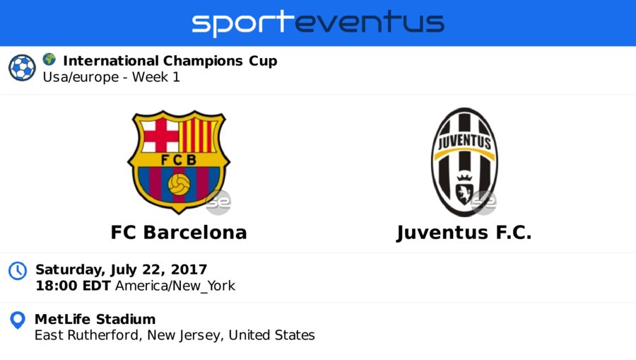 Buy #tickets in-app  #fcbarcelona  #juventusfc  July 22nd 18:00 EDT  #intchampionscup   #MetLifeStadium   http:// sportevent.us/twev164562  &nbsp;  <br>http://pic.twitter.com/lOxV6htyEW