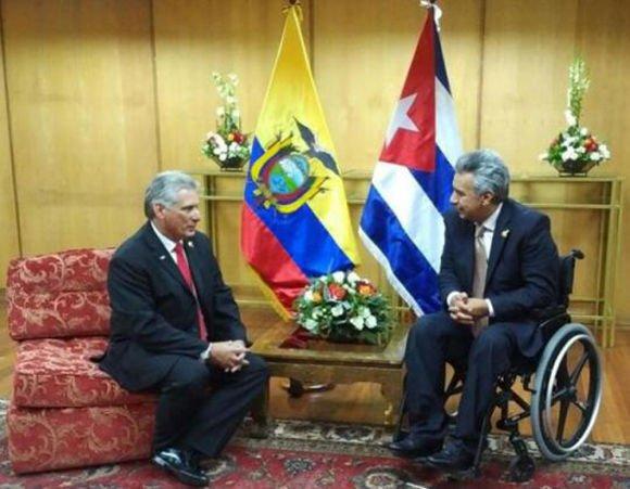 Resultado de imagen para Miguel Mario Díaz Canel Bermúdez y Lenin moreno