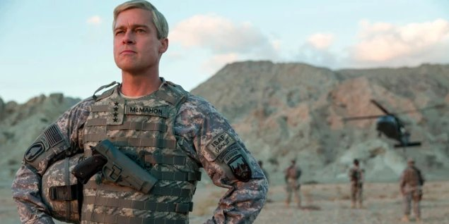 There's something ~off~ about Brad Pitt's performance in 'War Machine' https://t.co/fMyEX0ajOb https://t.co/7J4riZEjVd