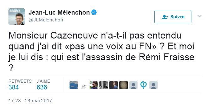 L'utilisation du décès d'un homme par @JLMelenchon à des fins politiques c'est du niveau de Nadine Morano. https://t.co/DCurkbDAV0