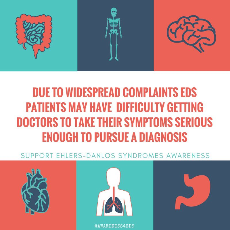 A diagnosis of #EDS can take years  #EhlersDanlosSyndromes #vEDS #hEDS #cEDs #EhlersDanlosSyndrome<br>http://pic.twitter.com/mVRWlla54Y